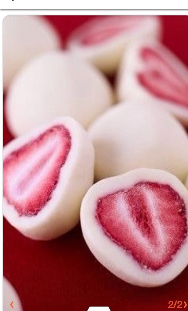 Dip strawberries in yogurt and freeze them for a healthy snack.