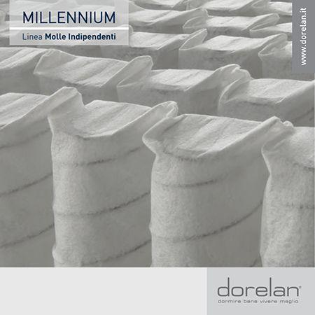 """Il segreto di Millennium è nell'innovativo sistema a molle indipendenti progettato in esclusiva da Dorelan: la speciale conformazione """"ad elica"""" di ciascuna molla garantisce  un'elevata rigidità nella zona più interna e una maggiore sofficità nelle zone superficiali, a tutto beneficio del comfort di riposo.  #materassi #Dorelan #Millennium #dormirebene"""