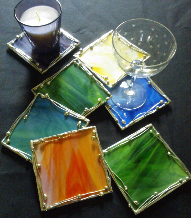 Stained Glass Squares - I guess these will be inserted into a frame, to create an image or maybe an abstract design.
