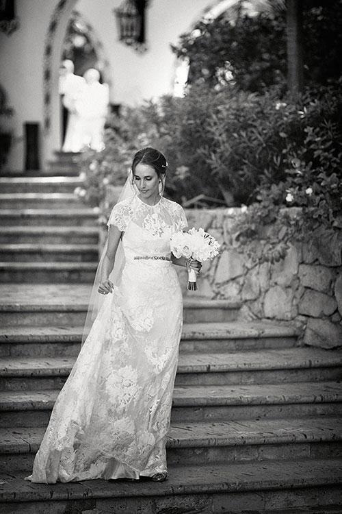 Beautiful Wedding Dresses Inspiration 2017/2018 : A lace Elizabeth Fillmore wedding dress with a belt | Brides.com