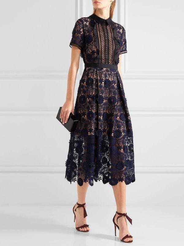 8718db680de6 Exquisite Stereo Floral Lace Slim Fit Party Dress in 2019   dresses ...