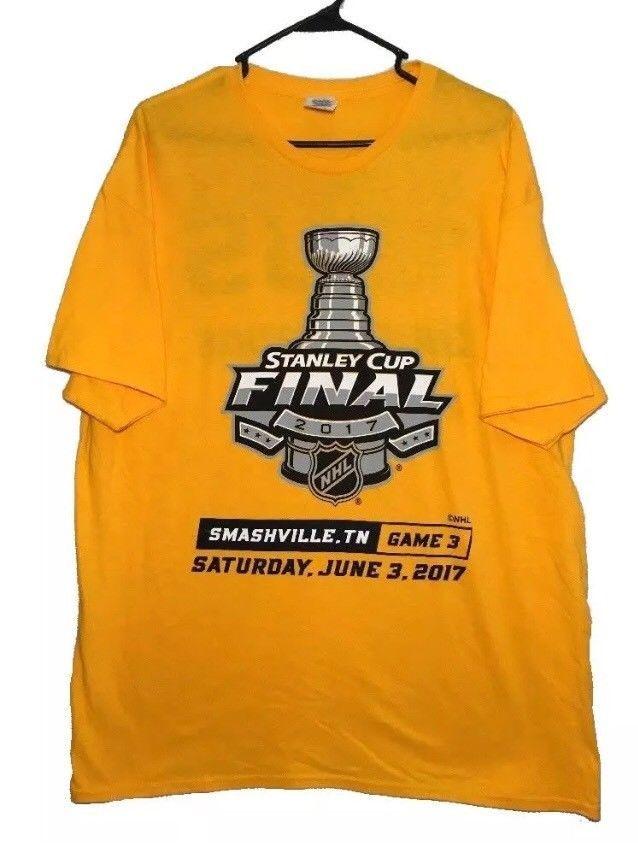 Nashville Predators T-Shirt XL Stanley Cup Finals Game 3 Smashville June 3, 2017  | eBay