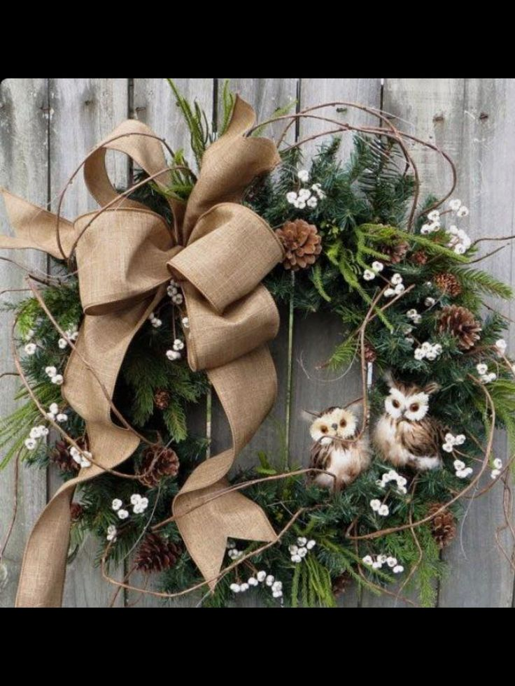 winter owl wreaths