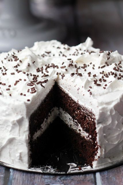 Devil's Food Cake with Angel Frosting   Recipe