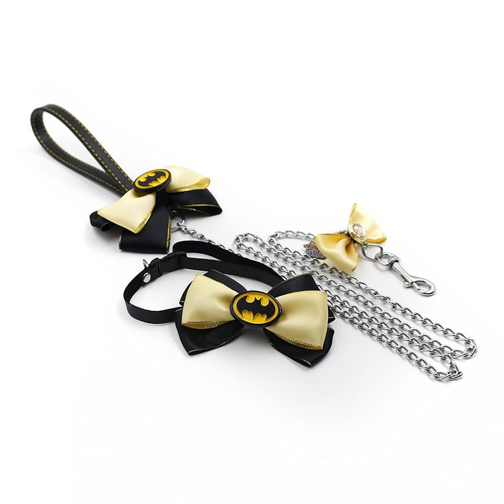 happycattag - Batman cat Bow Tie with matching 4 foot batman cat leash, Value Package Designer Premium cat Bow Tie and leash, Superhero cat Bowtie, Cat Dog Bow Tie High Quality Bowties * Save this wonderfull item : Cat Collar, Harness and Leash