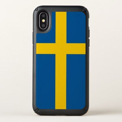 Speck Presidio iPhone X Case with Sweden flag - stylish gifts unique cool diy customize