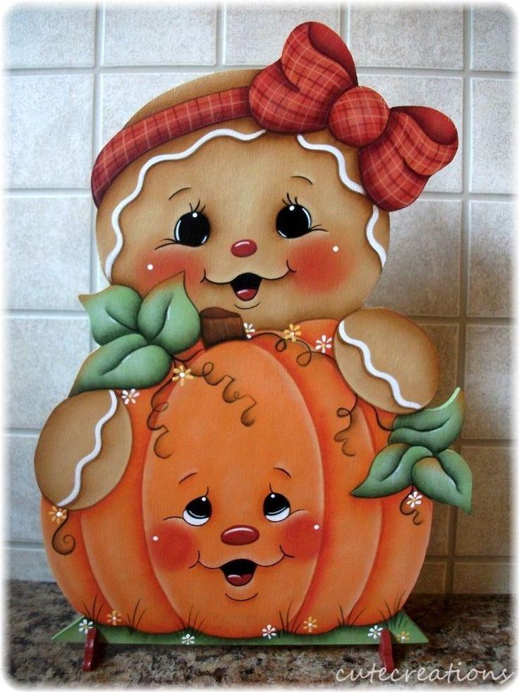 HP GINGERBREAD with Pumpkin SHELF SITTER | Artesanías, Piezas de artesanía y acabadas, Artículos pintados a mano | eBay!