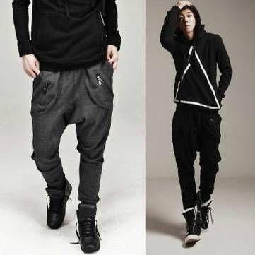 Men's Casual Dance Sports Trousers Baggy Jogging Harem Pants - US$15.98 - Banggood Mobile
