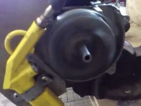 Easiest ever 2 stroke engine compressed air conversion no solenoid or valves