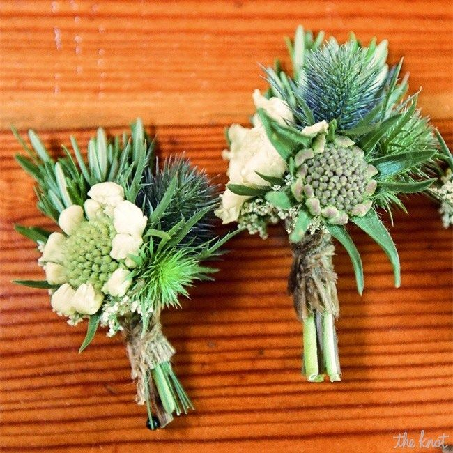 Bridesmaids rustic bouquets