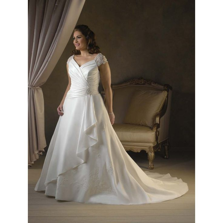 Casual white dress outdoor wedding plus size