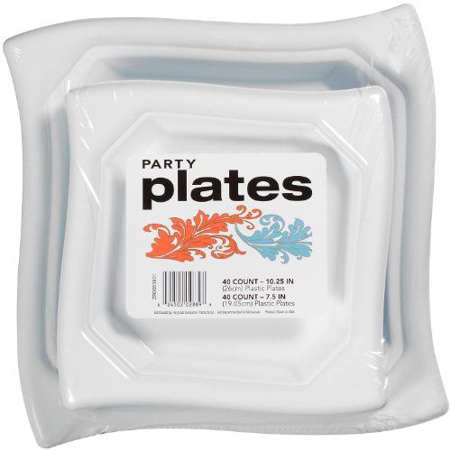 designer dinnerware party plates ideal for any occasion no stress and no mess clean up 40 plastic plates 40 plastic plates