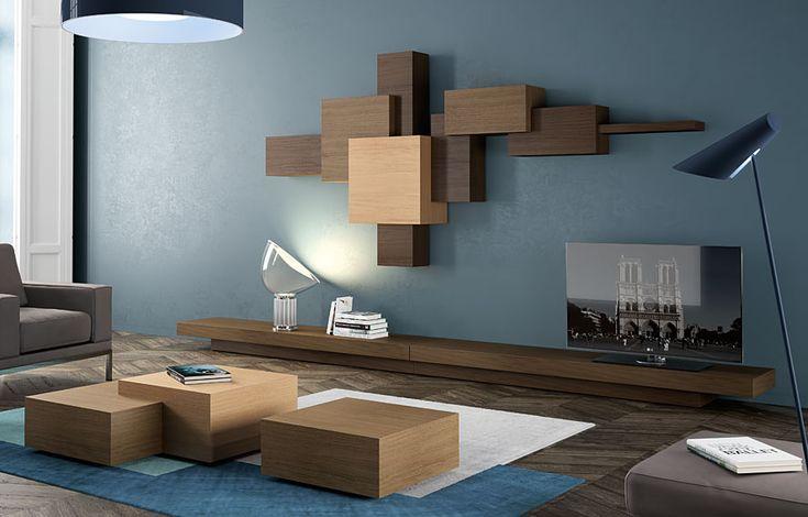 Las 25 mejores ideas sobre gabinetes de pared para tv en for Murales salon modernos
