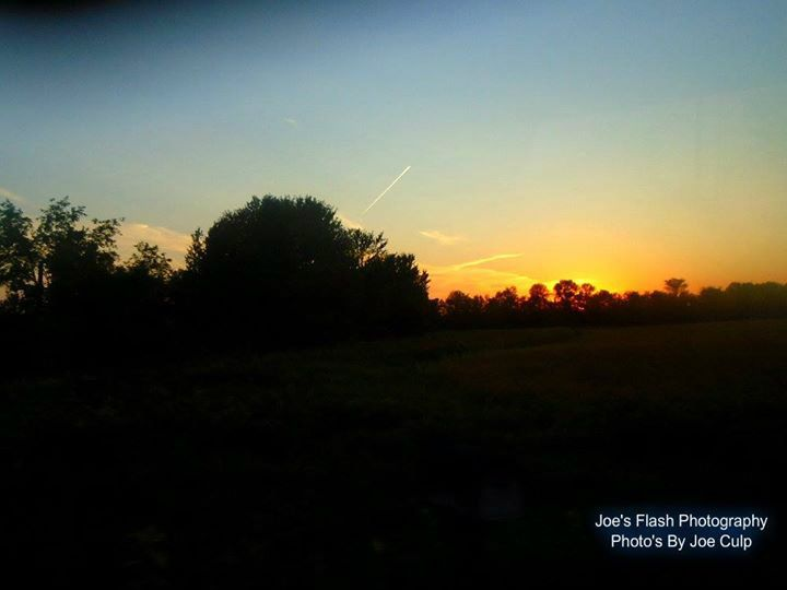 The Evening sunset off Avonlough Road in Belleville Ontario