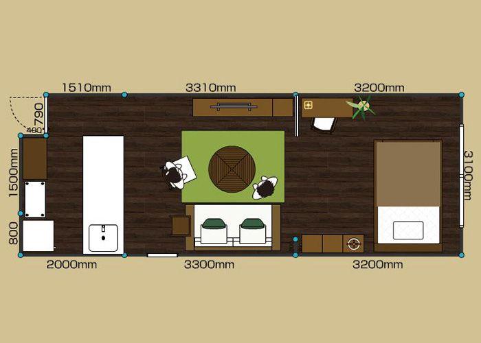 リビングダイニングルーム 1ldk 9畳 2d インテリア 9畳 レイアウト インテリアコーディネート 実例