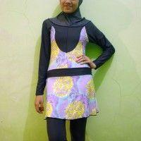 Baju Renang Muslimah Dewasa BRMD201410 Ungu Muda beli di ellima.web.id