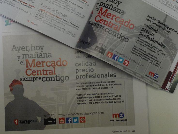 Publicidad del Mercado Central de Zaragoza en los distintos programas de fiestas.