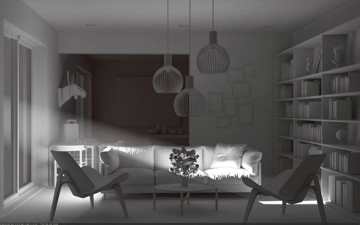 Fasci di luci visibili e polvere con V-rayforC4d