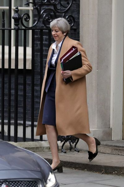 Theresa May Photos Photos - British Prime Minister Theresa May departs 10 Downing Street on March 29, 2017 in London, England. Later today British Prime Minister Theresa May will address the Houses of Parliament as Article 50 is triggered and the process that will take the United Kingdom out of the European Union will begin. - The British Prime Minister Triggers Article 50