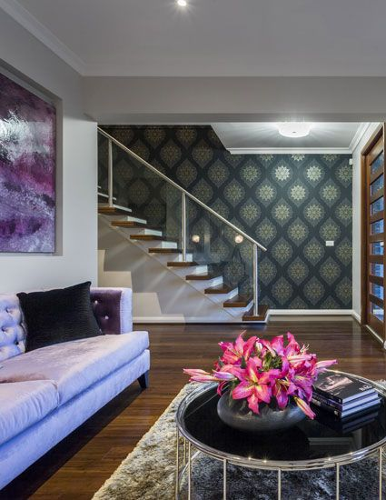 Lounge room of The Glenleigh 39.5 Home design display home by Kurmond Homes New Home Builders Sydney NSW - HOMEWORLD 5, Hartigan Avenue (off Windsor Road), Kellyville, NOW OPEN - 7 DAYS