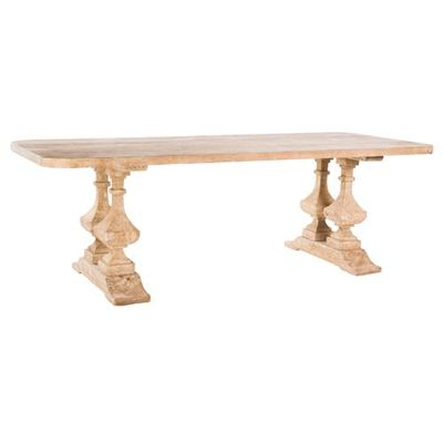 Lily Online Magazine Articles. French Provincial table. Country kitchen table. Timber table.  Kathy Kuo Home.