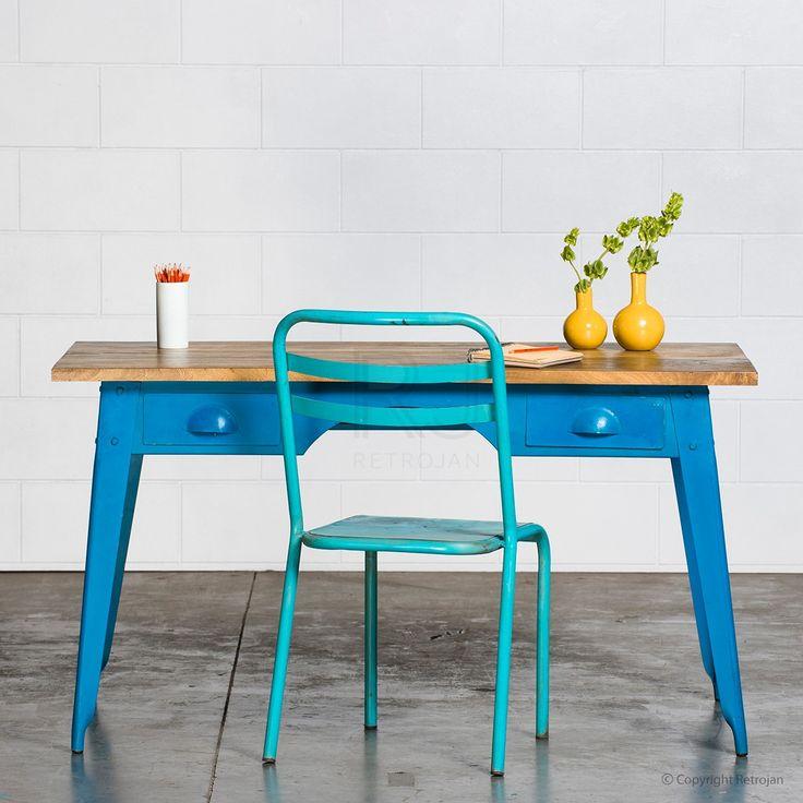 Marecellino Industrial Desk - Dark Blue   $499.00