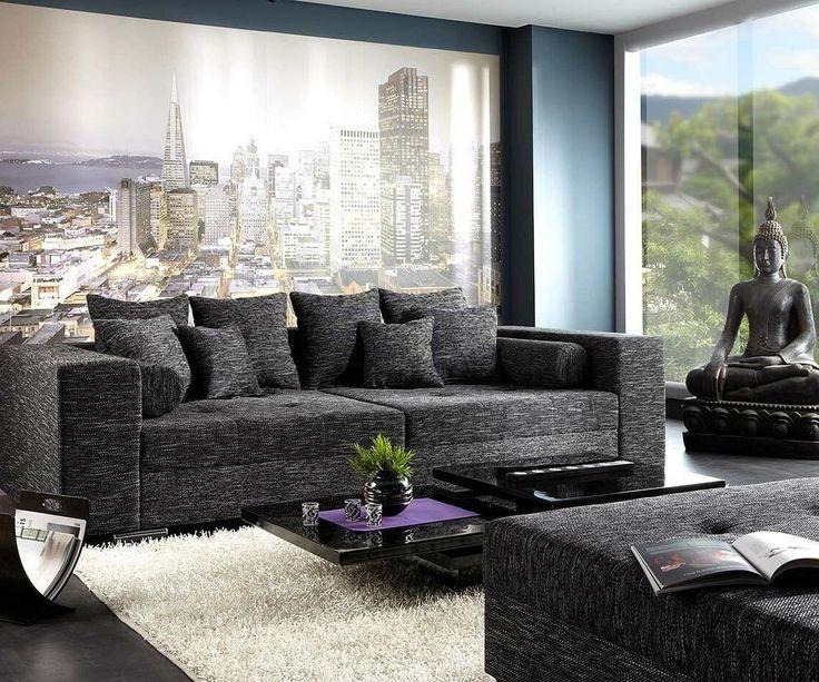 Popular DELIFE Bigsofa Marlen x cm Schwarz Couch Big Sofas online kaufen bei