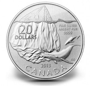 Canadian 2013 $20 Iceberg Silver Coin for $20 | New from the Royal Canadian Mint is its 2013 $20 Iceberg Silver Coin, the latest release from its best-selling series of commemorative $20 silver coins that are sold at face value.