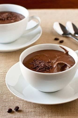 Dark #Chocolate Mousse with chocolate shavings. MMM!
