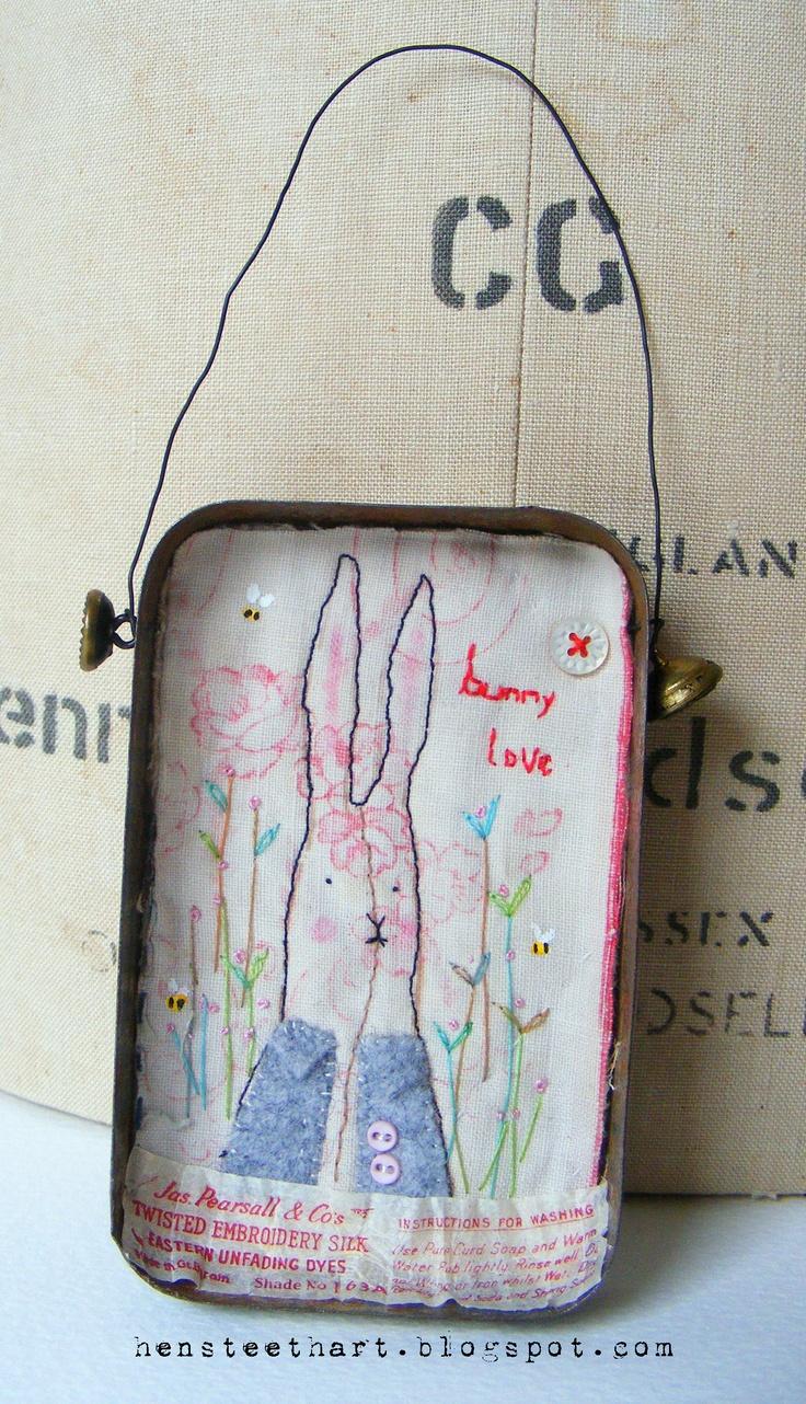 bunny in a tin artwork