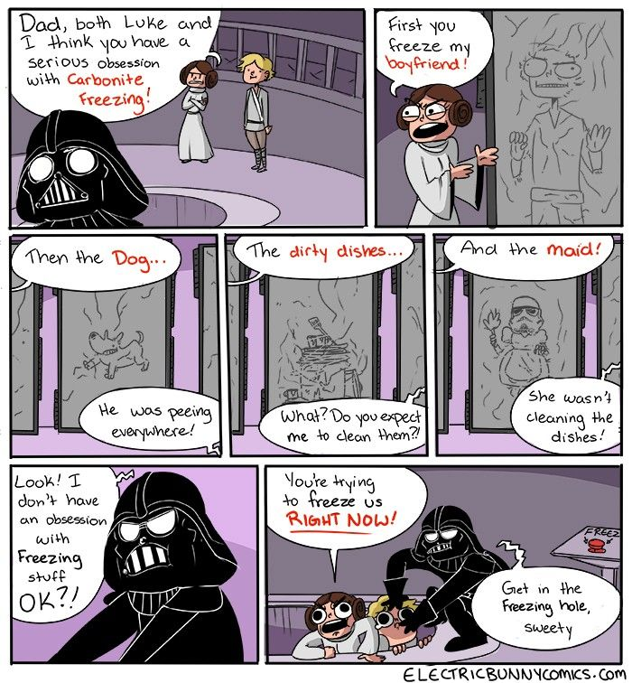 Star Wars Darth Vader Comic - Freeze Wars http://geekxgirls.com/article.php?ID=6392