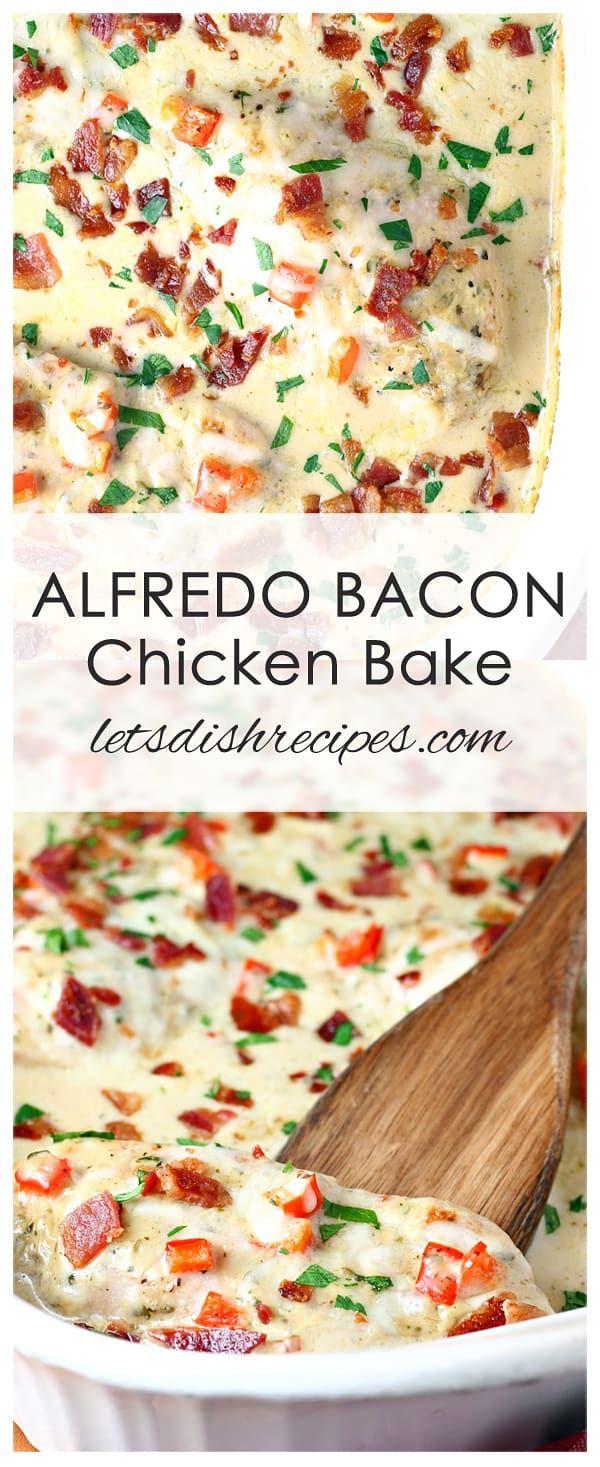 Alfredo Chicken Bacon Bake