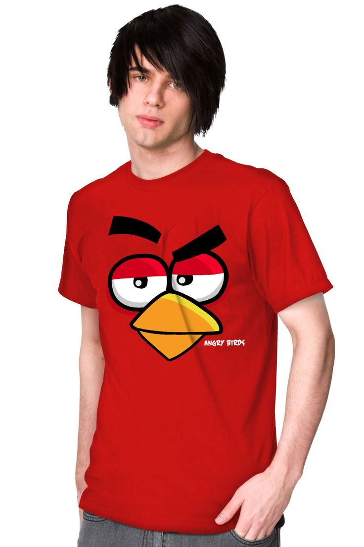 Angry Birds Unofficial cool T-Shirt (Lazy Face) [Picture] - See more stunning T-shirt Ideas at Stylendesigns.com!