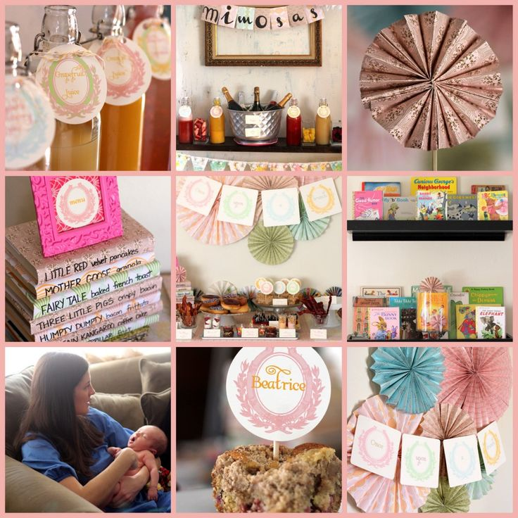 One of the cutest shower ideas ever: vintage storybook sip 'n see shower