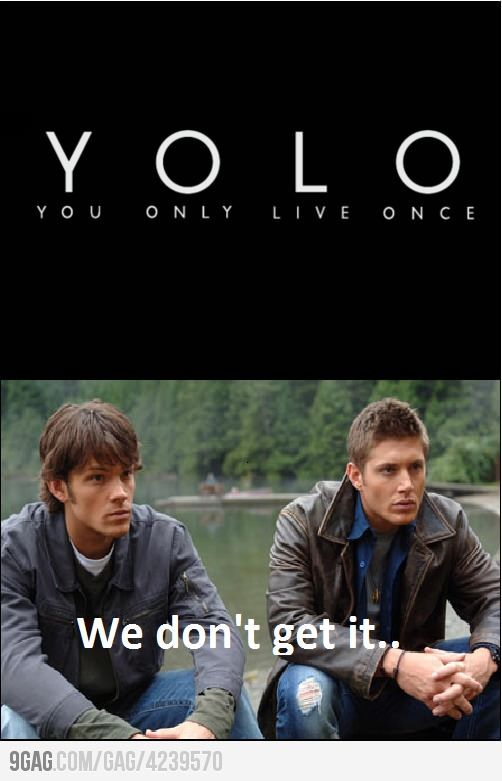 XD No, the Winchester boys definitely do NOT get it.