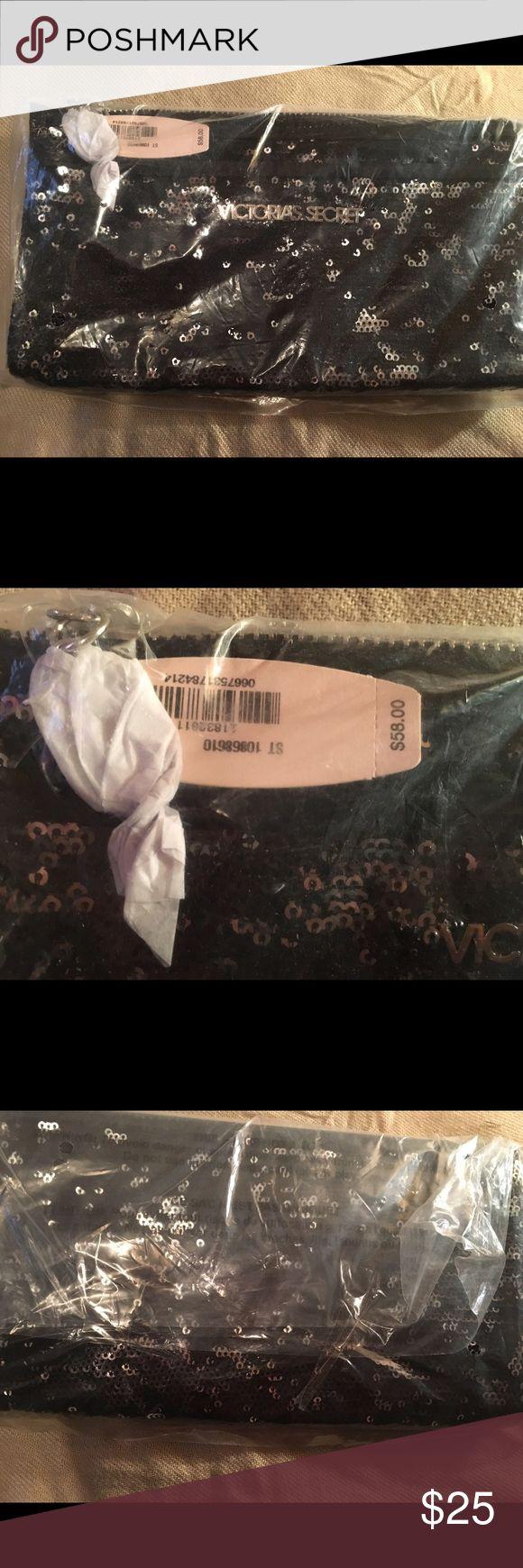 Victoria secret black sequin clutch bag Black sequin clutch bag by Victoria secret. New/never opened. Victoria's Secret Bags Clutches & Wristlets
