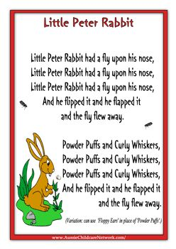 Little Peter Rabbit Children Rhymes