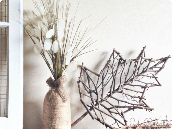 Fall Home Decor Ideas at UCreate- I think it would be fun to make twig leaves.
