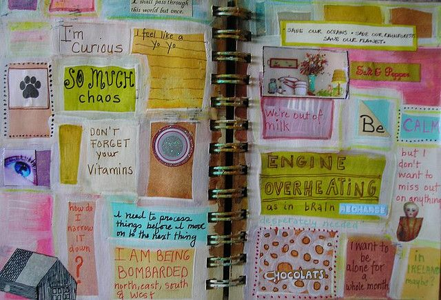 ...Journaling idea--quilt effect