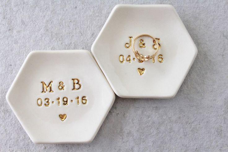 custom pottery ring dish