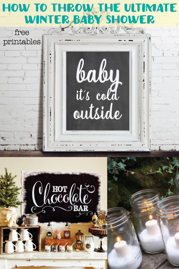 The Ultimate List Of Winter & Christmas Baby Shower Ideas - How To Make The Perfect Hot Chocolate Bar! Perfect for a fall or winter baby shower - great for coed showers too!