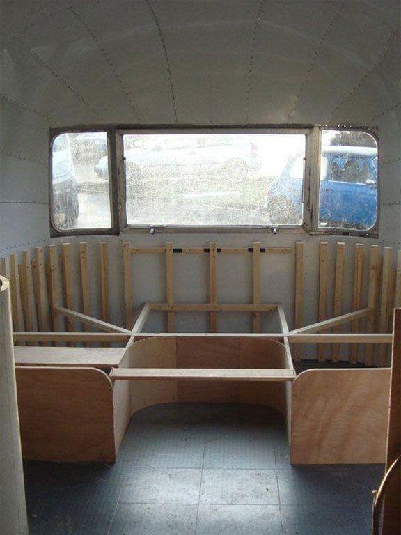 airstream interior   ... as airstream bespoke woodwork interior minimalist airstream workshop