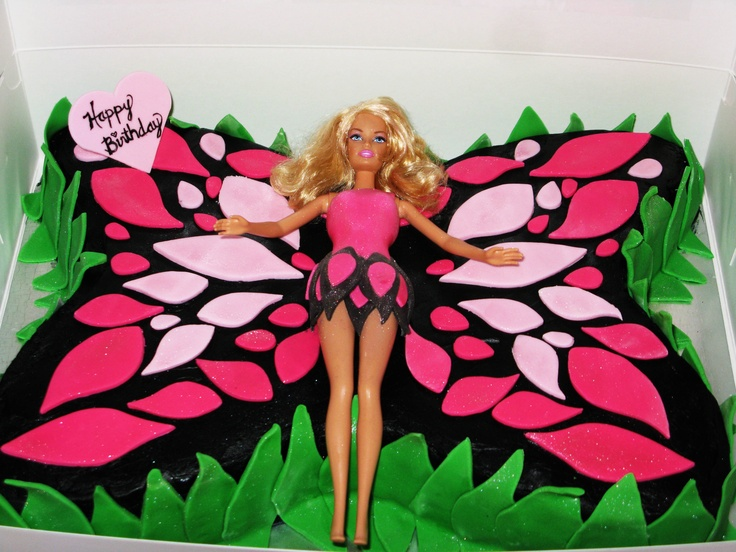 Butterfly Barbie Cake Images : Butterfly cakes, Barbie and Butterflies on Pinterest