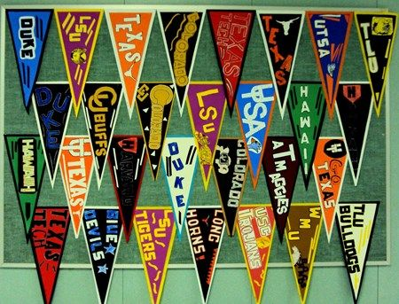 Students created pennants for EGGI (Education Go Get It) Week, Donna Staten lesson