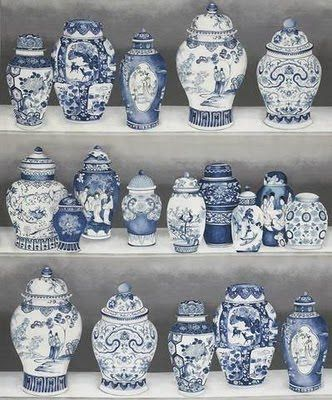 Blue And White China | blue white chinese porcelain elegant room with blue and white ...