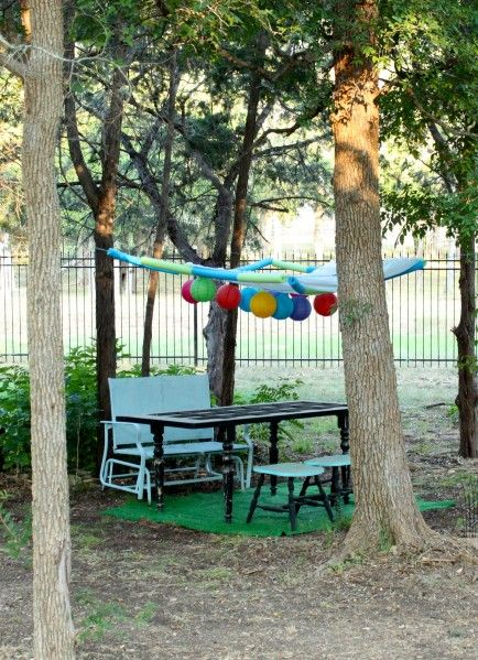 Dollar Store Crafts » Blog Archive » Tutorial: Make Your Own Party Canopy