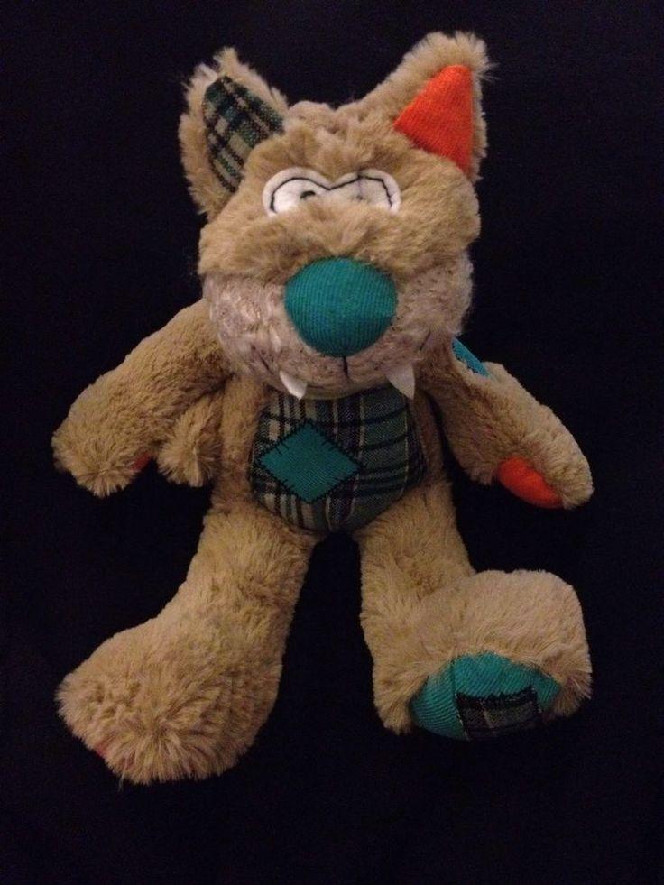 "Teddy & Friends Cat Patch Corduroy Plaid Tartan 13"" Plush Soft Toy Australia #TeddyFriends"