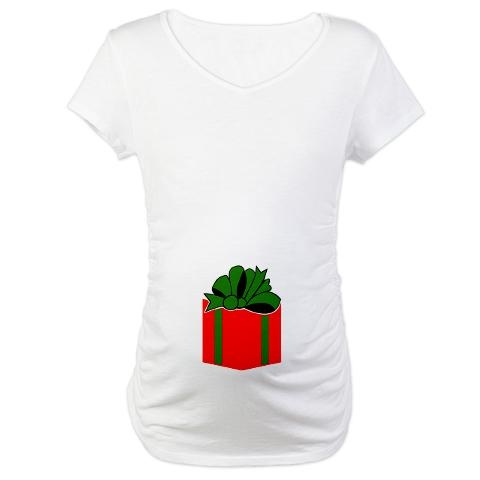 Christmas Bow Maternity T-Shirt | Product Search | ThreadCorner