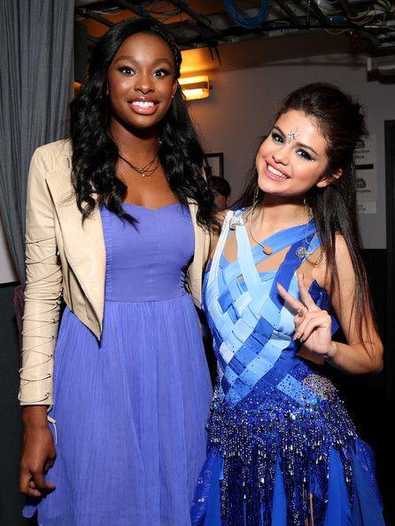 Coco Jones and Selena Gomez ~ Minnie Gifting Lounge At The 2013 Radio Disney Awards