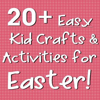 Easter Crafts & Activities! Great ideas for my preschoolers